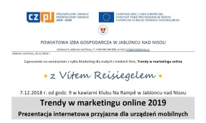 Seminář Trendy v marketingu online 2019